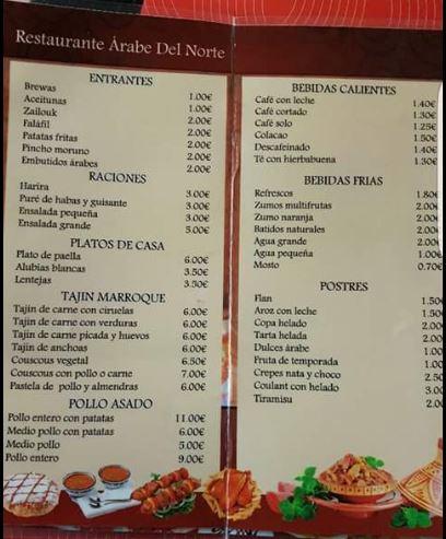 menu bilbao
